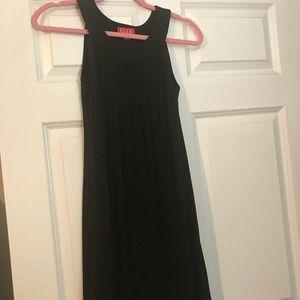Black bubble hem dress
